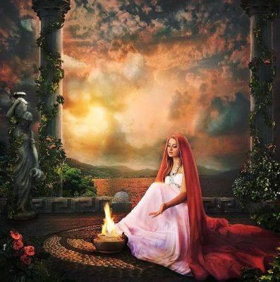 هستیا ، ایزدبانوی آتشکده و معابد ، زنی دانا ، خاله و عمه ، نسل اول المپیها ، ایزدبانوی باکره